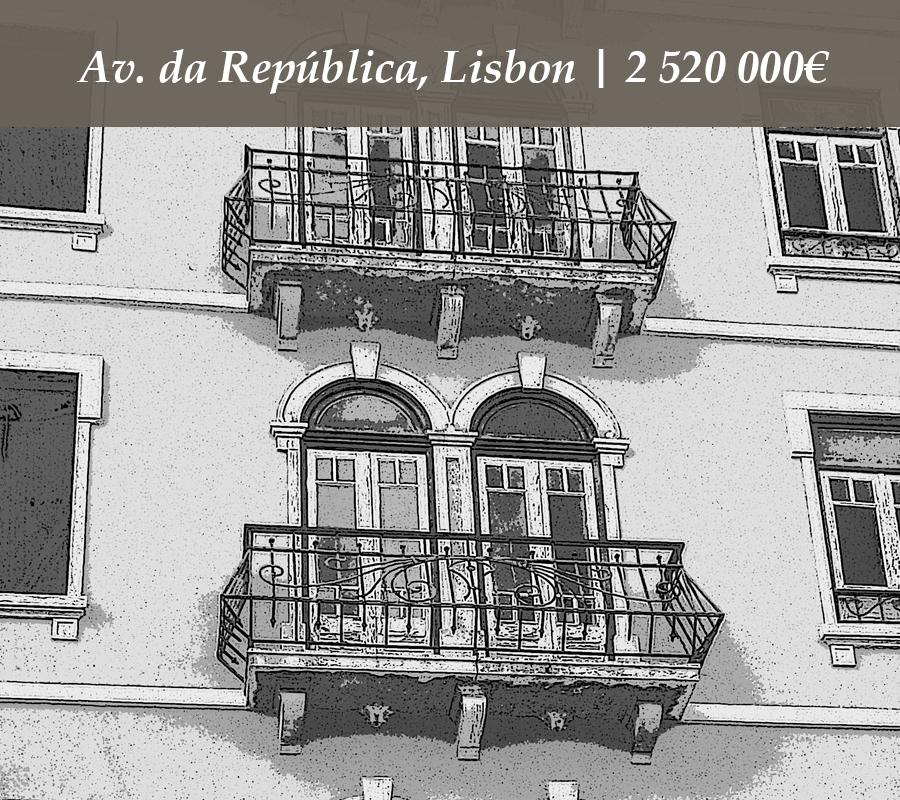 Av. da República, Lisbon | 2 520 000€